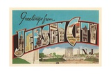 Greetings from Jersey City, New Jersey Giclee Print