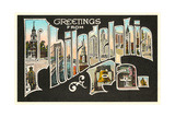 Greetings from Philadelphia, Pennsylvania Giclee Print