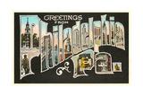 Greetings from Philadelphia, Pennsylvania Giclee Print