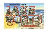 Greetings from Lake Worth, Florida Giclee Print