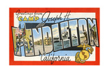 Greetings from Camp Joseph H. Pendleton, California Giclee Print