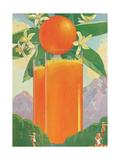 Giant Glasses of Orange Juice Giclee Print