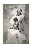 Illustration Depicting Expedition Members on the Ascent of Mont Blanc Giclee Print