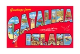 Greetings from Catalina Island, California Giclee Print