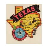 Texas Travel Decal Giclee Print