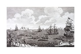 Whaling in the 18th Century, a British Naval Squadron in the Arctic Giclee Print