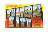 Greetings from Traverse City, Michigan Giclee Print