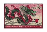 Japanese Matchbox Label with a Dragon Giclee Print