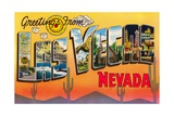 Greetings from Las Vegas, Nevada Giclee Print