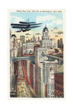 "Future New York ""The City of Skyscrapers,"" New York Postcard Giclee Print"