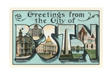 Greetings from the City of Boston, Massachusetts Giclee Print