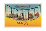 Greetings from Boston, Massachusetts Giclee Print