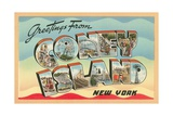 Greetings from Coney Island, New York Giclee Print