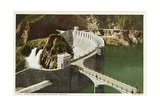 Roosevelt Dam Near Phoenix, Arizona Postcard Giclee Print