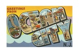 Greetings from Ocean City, New Jersey Giclee Print