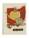 Ohio Travel Decal Giclee Print
