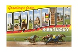 Greetings from Lexington, Kentucky Giclee Print