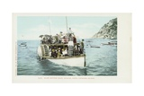 Glass Bottom Boat, Avalon, Santa Catalina Island Postcard Giclee Print