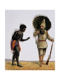 Robinson Crusoe and Man Friday Giclee Print