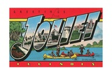 Greetings from Joliet, Illinois Giclee Print