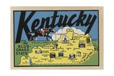 Kentucky Travel Decal Giclee Print