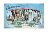 Greetings from Oklahoma Vintage Postcard Giclee Print
