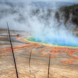 Visit The Grand Prismatic, Yellowstone Photographic Print by Vincent James
