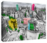 Tokyo Skyline Stretched Canvas Print