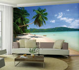 Tropical Beach Wallpaper Mural Veggoverføringsbilde