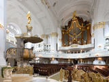 West-Facing of Steinmeyer Organ in St Michaelis Church, Hamburg, Germany Photographic Print by Andreas Lechtape