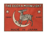 The Deer and Moonlight Matchbox Label Giclee Print