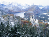Neuschwanstein Castle in Winter Photographic Print