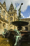 Neo-Renaissance Statues and Fountain at the Hamburg Rathaus, Opened 1886, Hamburg, Germany, Europe Photographic Print by Rob Francis
