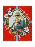 Vintage Illustration of the Virgin and Child Giclee Print