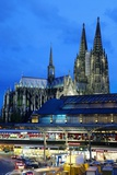 Cologne Cathedral and Railway Station Photographic Print by Guido Cozzi