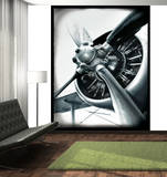 Aviator Aeroplane Deco Wall Mural Wallpaper Mural