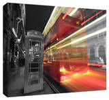London Bus Stretched Canvas Print