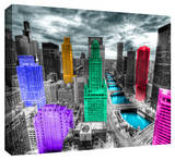 Chicago Stretched Canvas Print