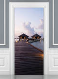 Maldives Dream Hut Door Wallpaper Mural Veggoverføringsbilde