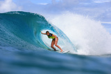 Roxy Pro Gold Coast: Mar 4 - Lakey Peterson Fotografiskt tryck av Simon Williams