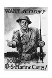 Poster Advertising U.S Marines Corps Recruits Giclee Print