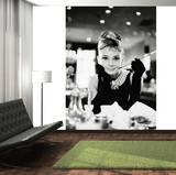 Audrey Hepburn Breakfast at Tiffany's Deco Wall Mural Fototapeta