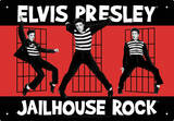 Elvis Jailhouse Tin Sign Tin Sign