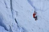 Ice Climbing in the Bernes Oberland, Swiss Alps Photographic Print by Robert Boesch
