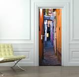 Calles de Italia - Papel pintado para las puertas Mural de papel pintado
