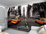 New York Taxi Schwarz Weiss Fototapete Fototapeten