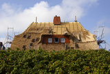 Thatched Roof under Construction, Sylt, North Sea, North Frisian Island, Germany Photographic Print