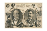 Poster for Socialist Presidential Ticket of 1904 Giclee Print