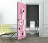 Toilet Roll Door Wallpaper Mural Tapettijuliste