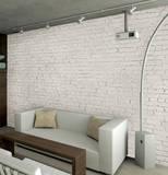 White Loft Brick Wallpaper Mural Veggoverføringsbilde